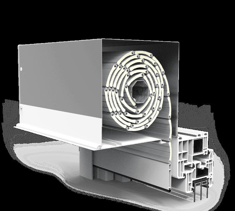 Aluminiowa skrzynka rolety podtynkowe QuadBox Mono