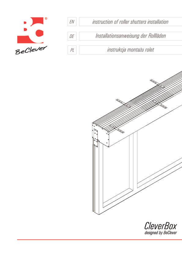 Instrukcja montażu rolet nadstawnych CleverBox