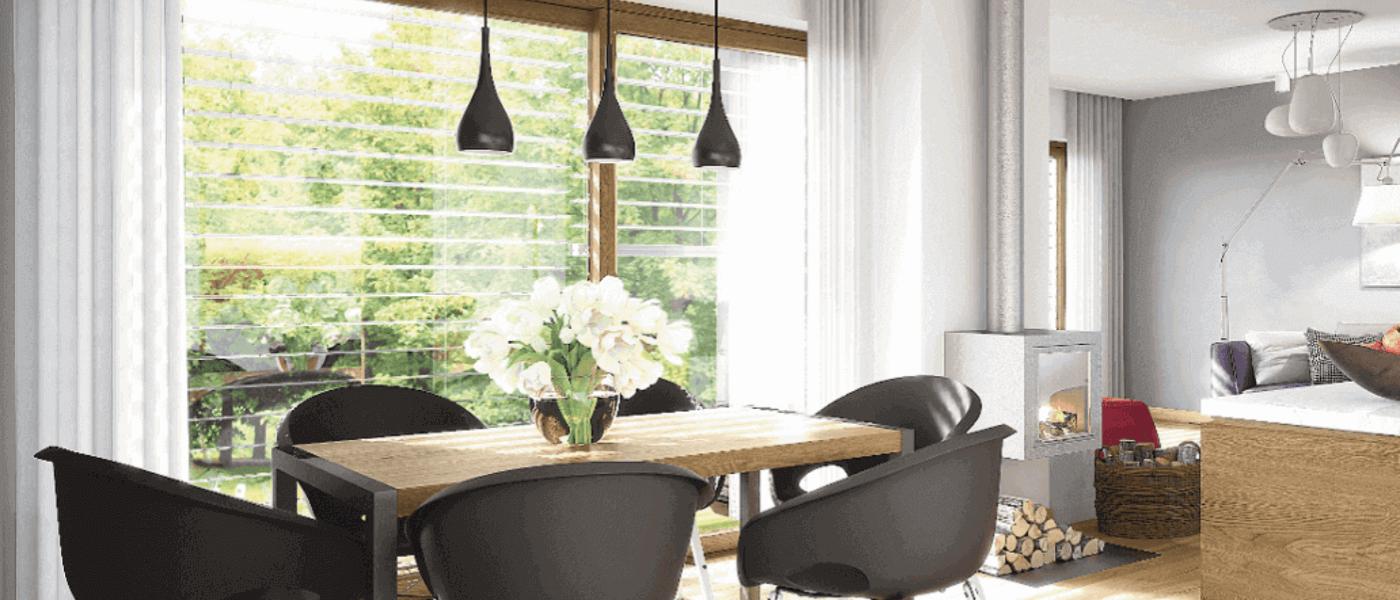 Przyjemnie zacieniony dom dzięki zastosowaniu żaluzji fasadowych