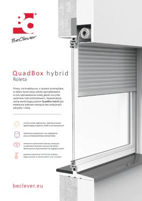 Karta charakterystyki rolety podtynkowej QuadBox dla klientów indywidualnych