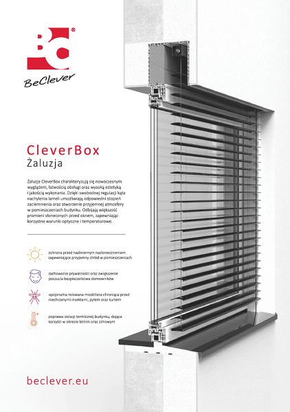 Karta charakterystyki żaluzji fasadowych CleverBox