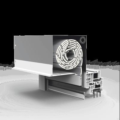 Obudowa skrzynki rolety podtynkowej wykonana z aluminium