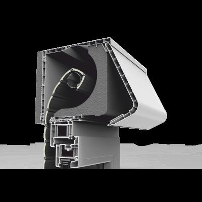 Pokrywa rewizyjna skrzynki rolety zewnętrznej nadstawnej CleverBox w wersji soft otwierana od tyłu i dołu