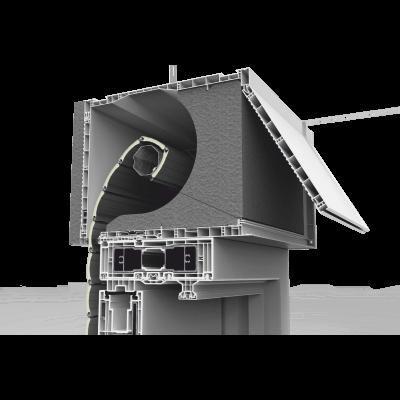 Pokrywa rewizyjna skrzynki rolety nadstawnej CleverBox w wersji thermic wf otwierana od tyłu