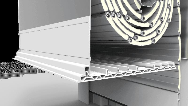 Pokrywa rewizyjna skrzynki rolety podtynkowej QuadBox Hybrid wykonana z PVC