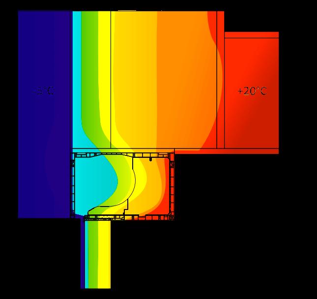 Zakres przewodnictwa cieplnego rolety nadstawnej CleverBox