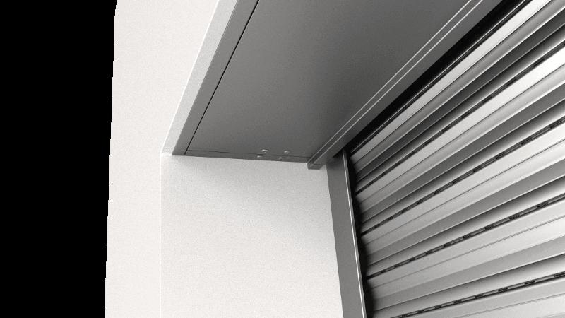 Aluminiowa rewizja serwisowa rolety podtynkowej QuadBox
