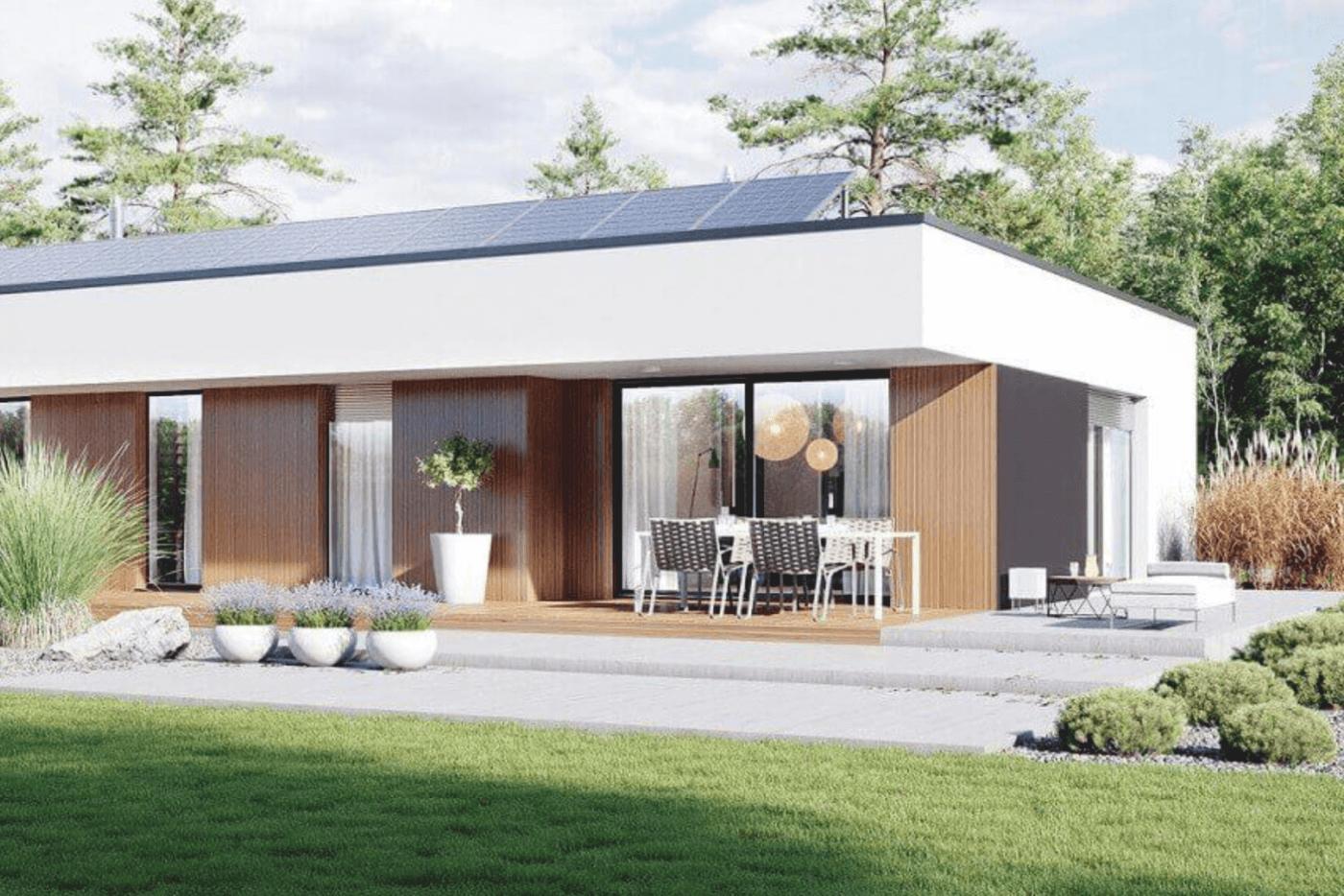 Projekt domu z roletami zewnętrznymi