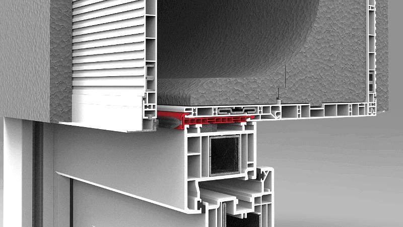 Skrzynka rolety nadstawnej CleverBox z uniwersalnym profilem adaptacyjnym do montażu na każdym oknie