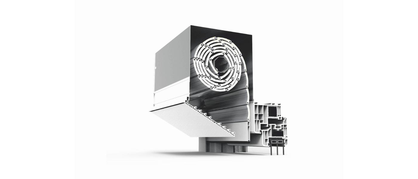 Skrzynka rolety podtynkowej QuadBox z pokrywą rewizyjną wykonaną z wysokiej jakości tworzywa