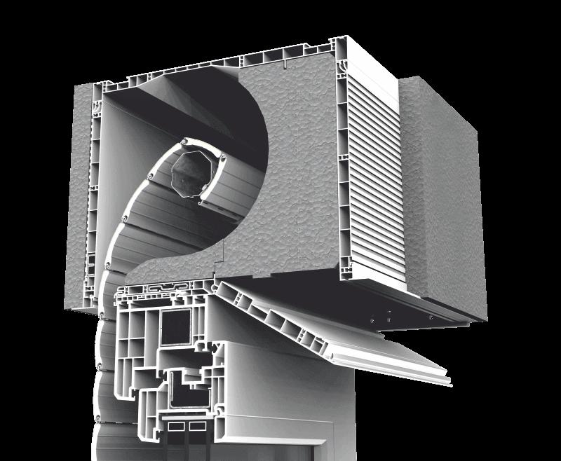 Skrzynka rolety nadstawnej CleverBox z pokrywą rewizyjną otwieraną od spodu