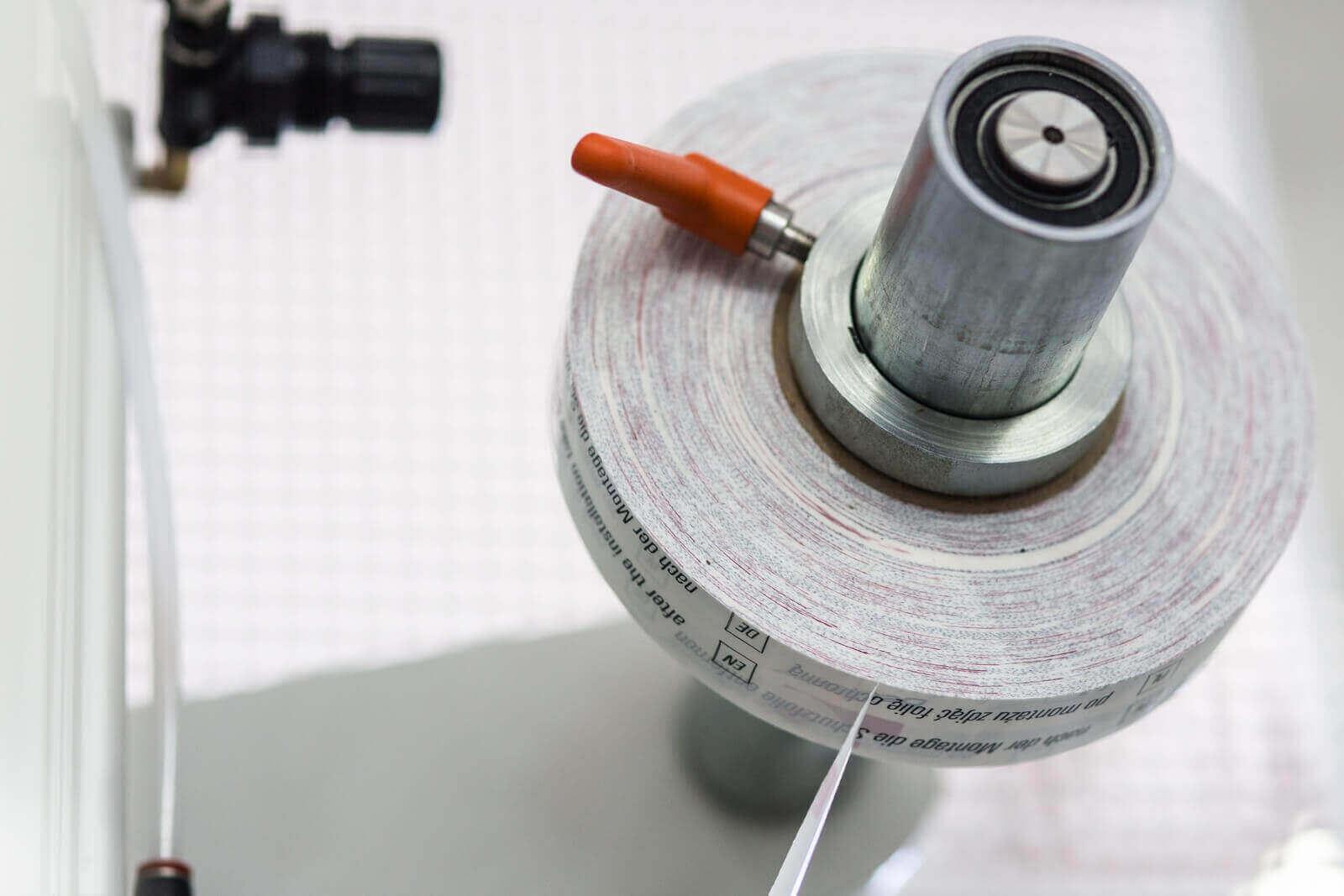 Taśma ochronna do zabezpieczenia pancerza prowadnic skrzynki rolety zewnętrznej