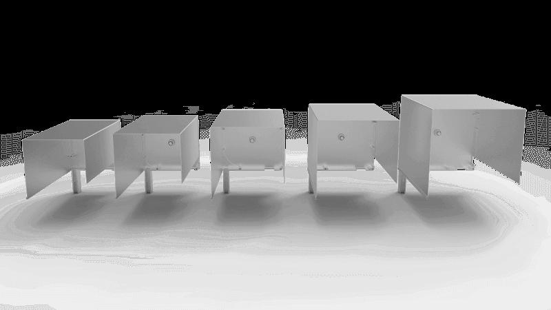 Rozmiary skrzynek rolety zewnętrznej podtynkowej QuadBox