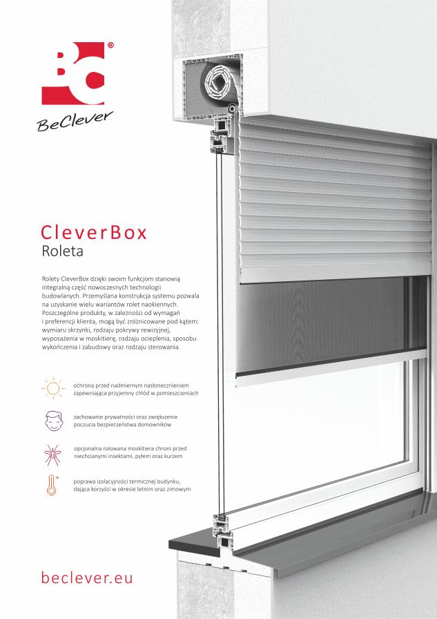 Karta katalogowa rolety nadstawnej CleverBox