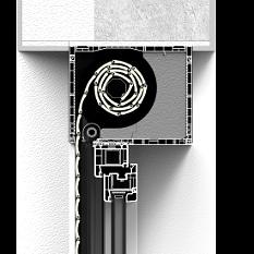Roleta naokienna CleverBox bez zabudowy z pokrywą rewizyjną od dołu