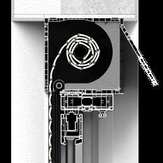 Roleta zewnętrzna CleverBox bez zabudowy z pokrywą rewizyjną od tyłu