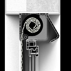 Roleta naokienna CleverBox bez zabudowy z zaokrągloną pokrywą rewizyjną od tyłu
