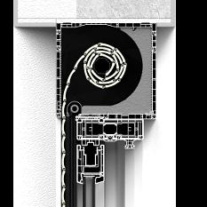 Roleta nadstawna CleverBox bez zabudowy z pokrywą rewizyjną od tyłu