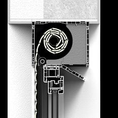 Roleta nadstawna CleverBox bez zabudowy z pokrywą rewizyjną od dołu