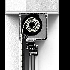 Roleta CleverBox bez zabudowy z zaokrągloną pokrywą rewizyjną od tyłu