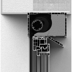 Skrzynka rolety screen CleverBox bez zabudowy z pokrywą rewizyjną od dołu