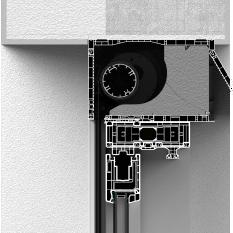 Skrzynka rolety typu screen bez zabudowy z pokrywą rewizyjną od tyłu