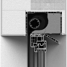 Zabudowa całkowita skrzynki rolety screen CleverBox z pokrywą rewizyjną od dołu