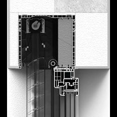 Zabudowa skrzynki żaluzji fasadowej CleverBox całkowita