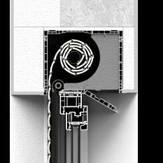 Zabudowa rolety nadstawnej CleverBox z pokrywą rewizyjną od dołu