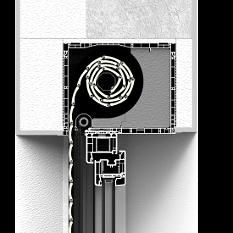 Zabudowa skrzynki rolety nadstawnej CleverBox całkowita