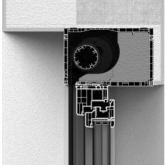 Zabudowa skrzynki rolety refleksyjnej CleverBox od wewnątrz