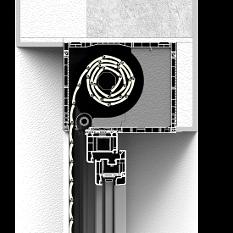 Zabudowa od wewnątrz rolety naokiennej CleverBox z pokrywą rewizyjną od dołu