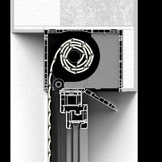 Zabudowa od wewnątrz rolety nadstawnej CleverBox z pokrywą rewizyjną od dołu