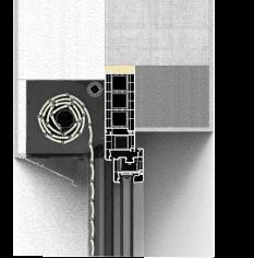 Sposób montażu rolety podtynkowej QuadBox mono z zastosowaniem poszerzeń okna z otwartą rewizją od zewnętrznej strony budynku