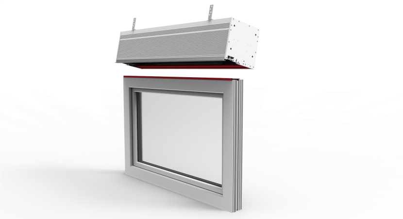 Sposób montażu żaluzji fasadowych do okien PVC, aluminiowych i drewnianych