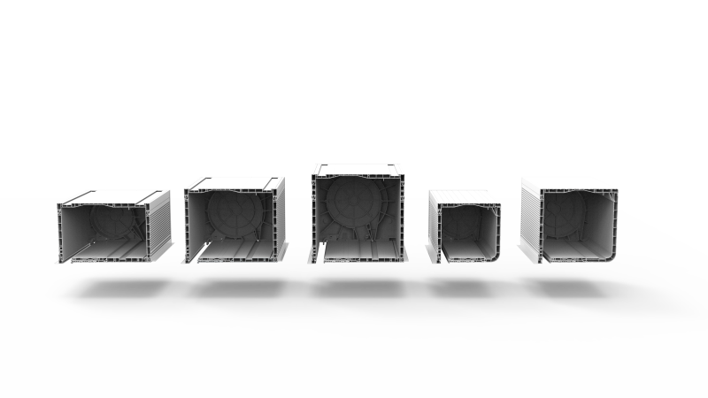 Rozmiary skrzynek rolety zewnętrznej naokiennej CleverBox