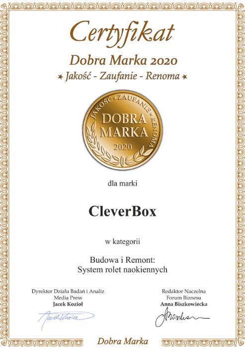 "Certyfikat ""Dobra Marka 2020"""