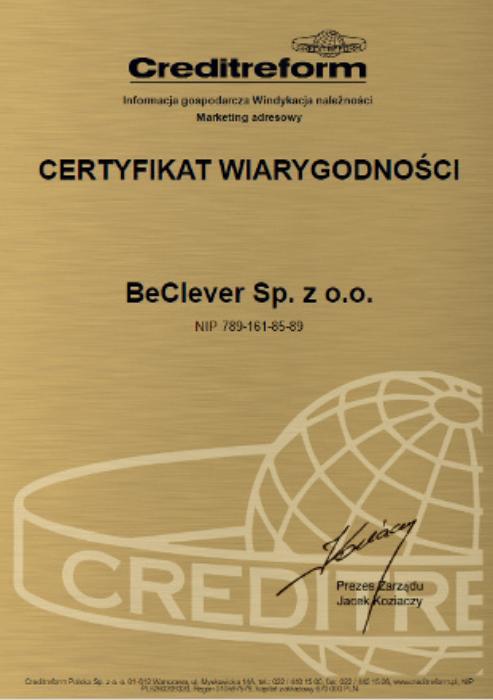 Certyfikat Wiarygodności Creditreform